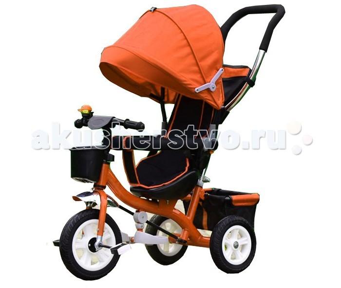 """Велосипед трехколесный KidsCool HP-TC-006 надувные колесаHP-TC-006 надувные колесаДетский трехколесный велосипед HP-TC-006 надувные колеса с ручкой толкателем и капюшоном.  Особенности: Ручка управления движением позволяет родителям одной рукой контролировать поездку и управлять велосипедом; защитный разъёмный поручень; складывающиеся подножки; складывающийся двух сегментный капюшон  Спинка с регулировкой угла наклона, 3 положения; удобные не проскальзывающие педали из рифленого пластика; металлическая хромированная ручка; эргономичное и удобное сиденье с мягкой тканевой подушкой; две мягкие подушечки на спинке; возможность блокировки задних колеса; тканевая багажная корзина для вещей и игрушек; колёса 10""""/8"""" хромированные алюминиевые диски.<br>"""