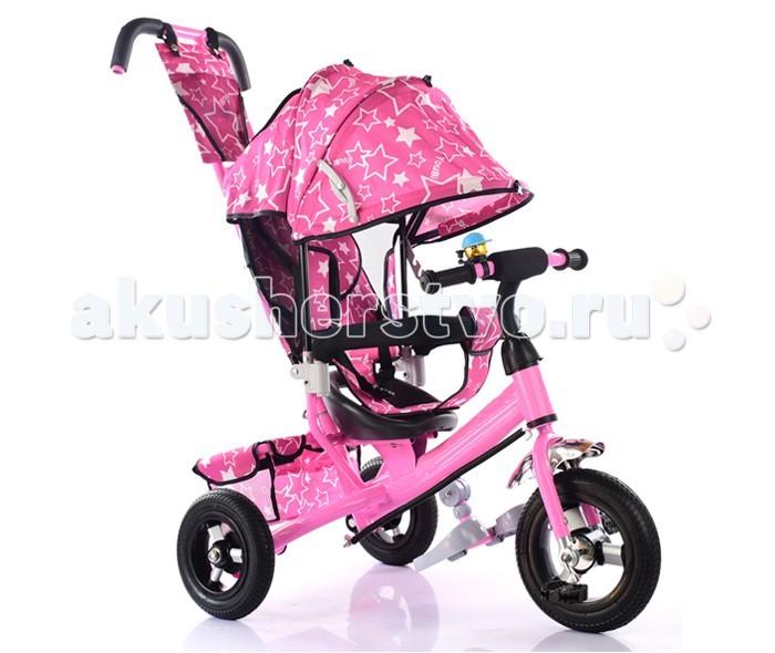 """Велосипед трехколесный KidsCool HP-TC-701 надувные колесаHP-TC-701 надувные колесаДетский трехколесный велосипед HP-TC-701 надувные колеса с ручкой толкателем и капюшоном.  Особенности: Ручка управления движением позволяет родителям одной рукой контролировать поездку и управлять велосипедом; защитный разъёмный поручень; складывающиеся подножки; складывающийся двух сегментный капюшон  Спинка с регулировкой угла наклона, 3 положения; удобные не проскальзывающие педали из рифленого пластика; металлическая хромированная ручка; эргономичное и удобное сиденье с мягкой тканевой подушкой; две мягкие подушечки на спинке; тканевая багажная корзина для вещей и игрушек; колёса 10""""/8"""" хромированные алюминиевые диски.<br>"""