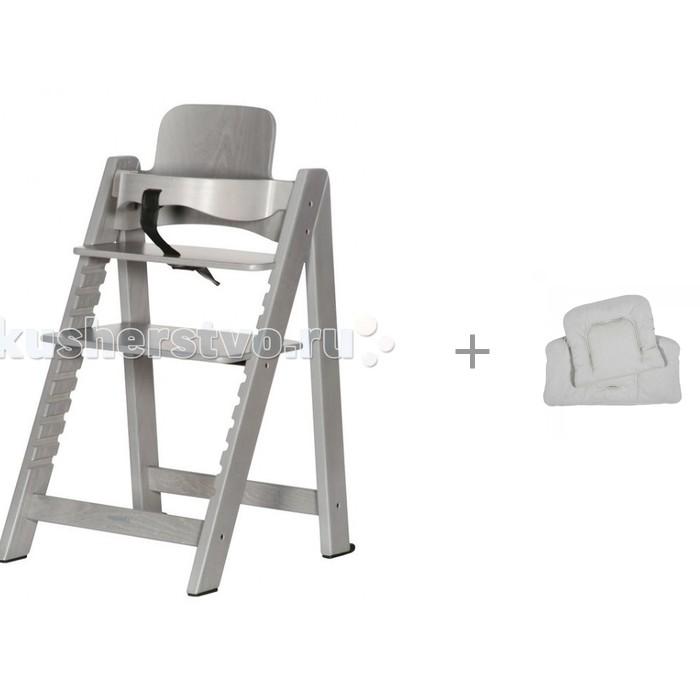 Стульчик для кормления KidsMill HighChair Up Grey wash с подушкой