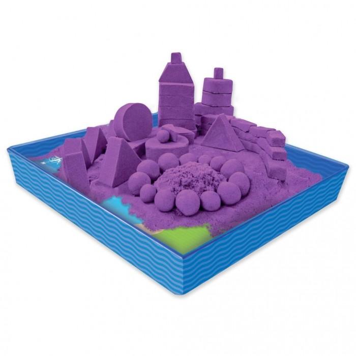 Всё для лепки Kinetic Sand Кинетический песок для лепки 454 г лоток, 4 формочки кинетический песок kinetic sand золотой