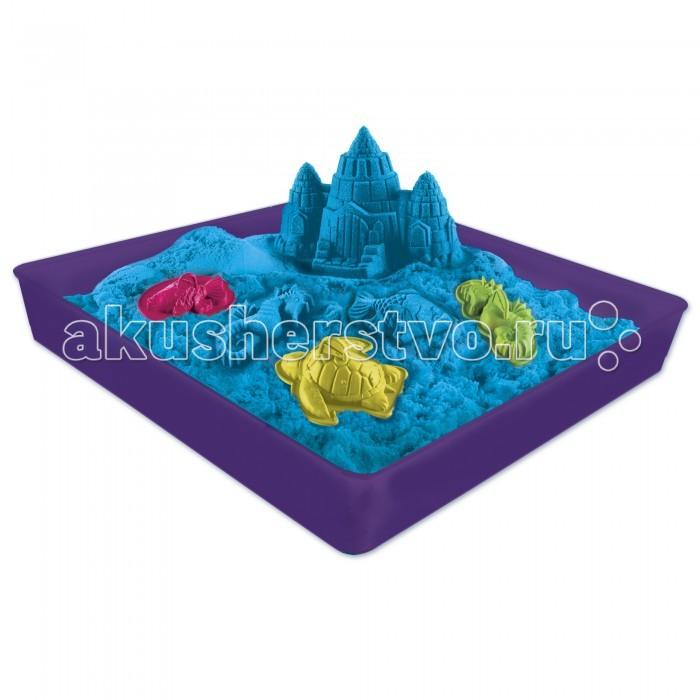 Kinetic Sand Кинетический песок для лепки 454 г лоток, 4 формочки