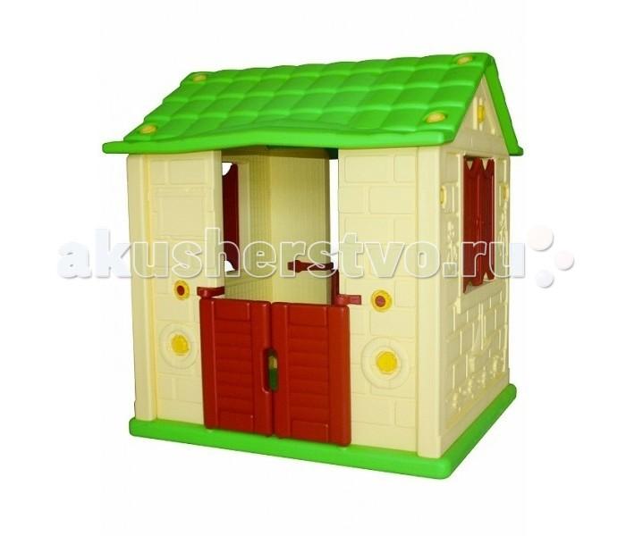 King Kids Игровой домик КоролевскийИгровой домик КоролевскийKing Kids Игровой домик Королевский с двумя окнами и дверными проемами.  Особенности: В стенах дома два окна, с распашными ставнями По обе стороны домика два дверных проема с распашными створками в половину уровня дверных проемов высотой Внутри домика 4 маленькие подвеснын скамеечки Домик предназначен для детей дошкольного возраста Игрушка поставляется в разобранном виде и требует несложной сборки по инструкции Домик можно использовать как в помещении, так и на улице в теплое время года. Высота домика 120 см Площадь домика по основанию 90х106 см.<br>