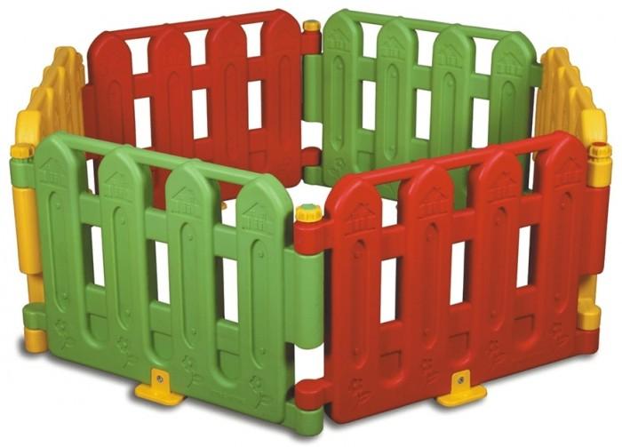 King Kids Игровой манеж 6 частейИгровой манеж 6 частейKing Kids Игровой манеж 6 частей можно использовать как уличный или комнатный манеж, пока малыш еще совсем маленький. Когда кроха подрастет, то сможет использовать в разных играх.   Отличительной служит возможность его сборки в разных формах, а также есть возможность соединять два и более идентичных наборов в единое сооружение.  Размеры: Высота манежа 60 см Длина одной части 80 см.<br>