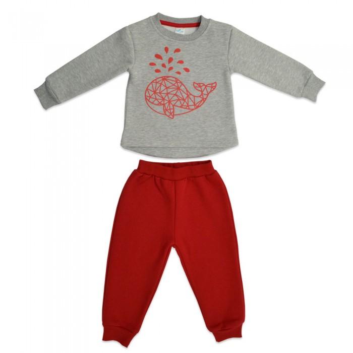 Комплекты детской одежды Кит Костюм для девочки (джемпер и штаны) с принтом 271-627