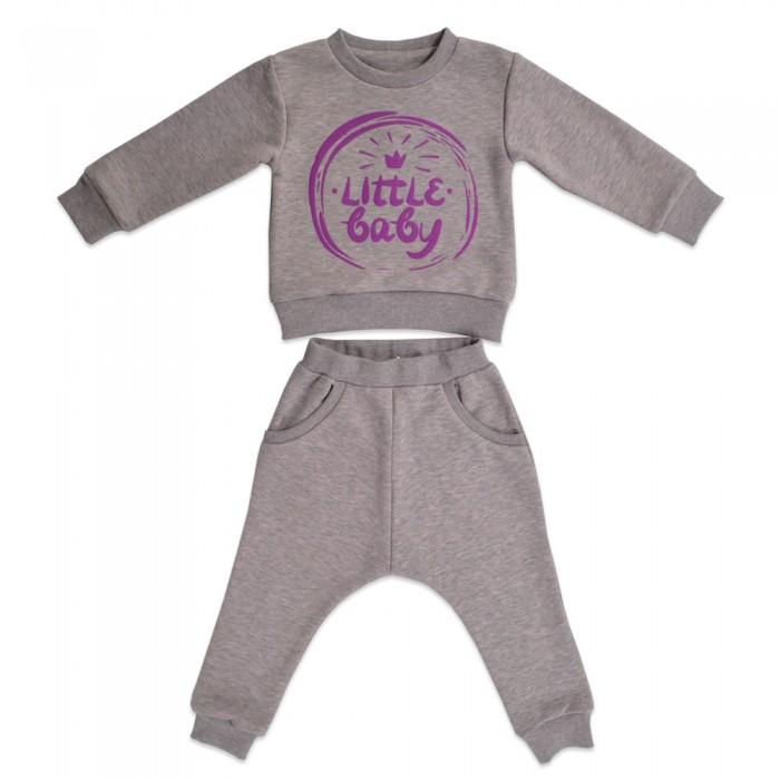 Комплекты детской одежды Кит Костюм для девочки (джемпер и штаны) с принтом 271-626