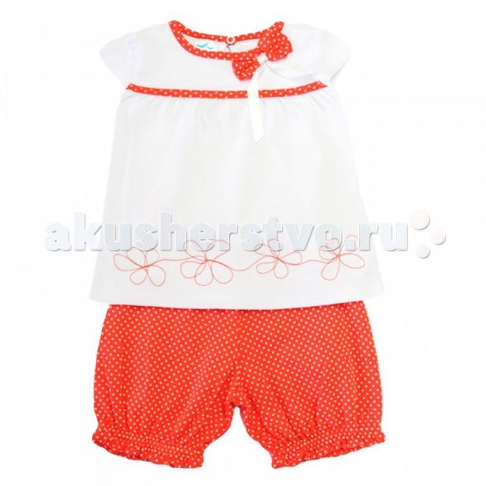 Комплекты детской одежды Кит Костюм для девочки (футболка и шорты)