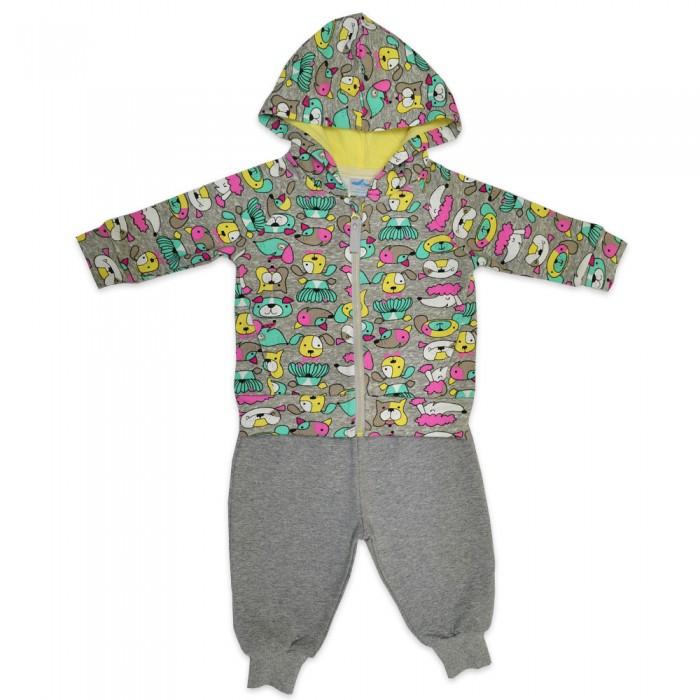 Детская одежда , Комплекты детской одежды Кит Костюм для девочки (штаны и толстовка) на молнии с капюшоном арт: 466666 -  Комплекты детской одежды