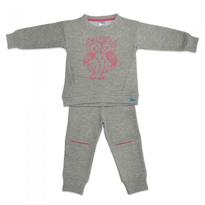 Комплекты детской одежды Кит Костюм для девочки (штаны и толстовка) с принтом Сова