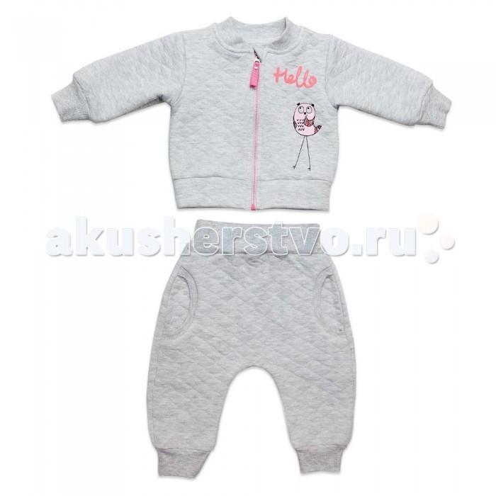 Детская одежда , Комплекты детской одежды Кит Костюм для девочки (толстовка и штаны) на молнии с принтом арт: 466721 -  Комплекты детской одежды