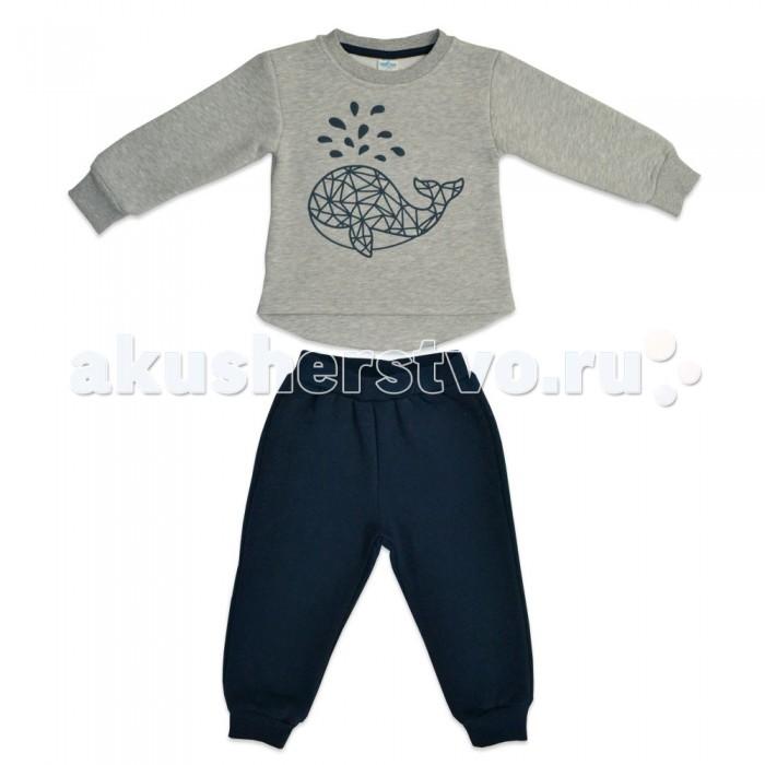 Детская одежда , Комплекты детской одежды Кит Костюм для мальчика (джемпер и штаны) с принтом 271-627 арт: 466806 -  Комплекты детской одежды