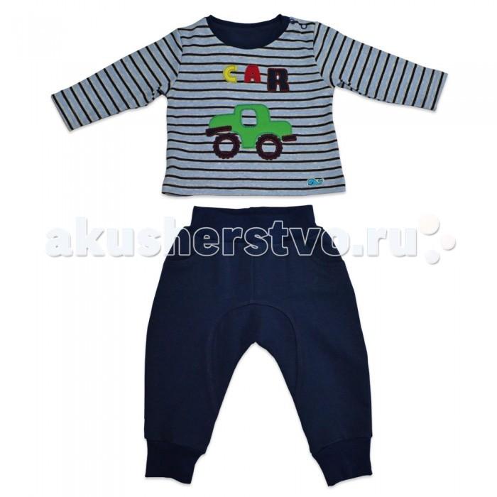 Комплекты детской одежды Кит Костюм для мальчика (штаны и толстовка) с принтом Машинка