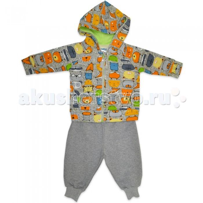 Детская одежда , Комплекты детской одежды Кит Костюм для мальчика (штаны и толстовка) на молнии с капюшоном 271-609 арт: 466676 -  Комплекты детской одежды