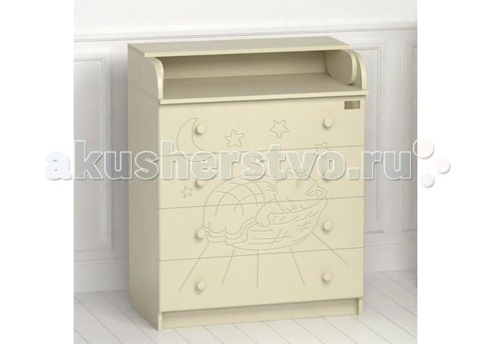 Комоды Kitelli (Kito) Micio пеленальный (4 ящика) детские кроватки kitelli kito amore продольный маятник