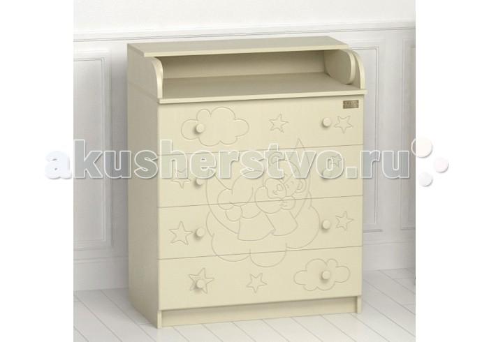 Комоды Kitelli (Kito) Orsetto пеленальный (4 ящика) детские кроватки kitelli kito amore продольный маятник