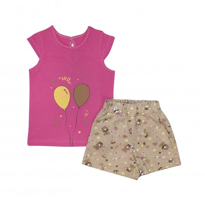 Купить Домашняя одежда, Клякса Комплект для девочки (футболка, шорты) 10Д-751