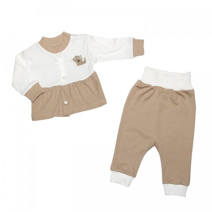 Комплекты детской одежды Клякса Комплект для девочки из кофточки и ползунков комплекты детской одежды клякса комплект 4 предмета 55 5529