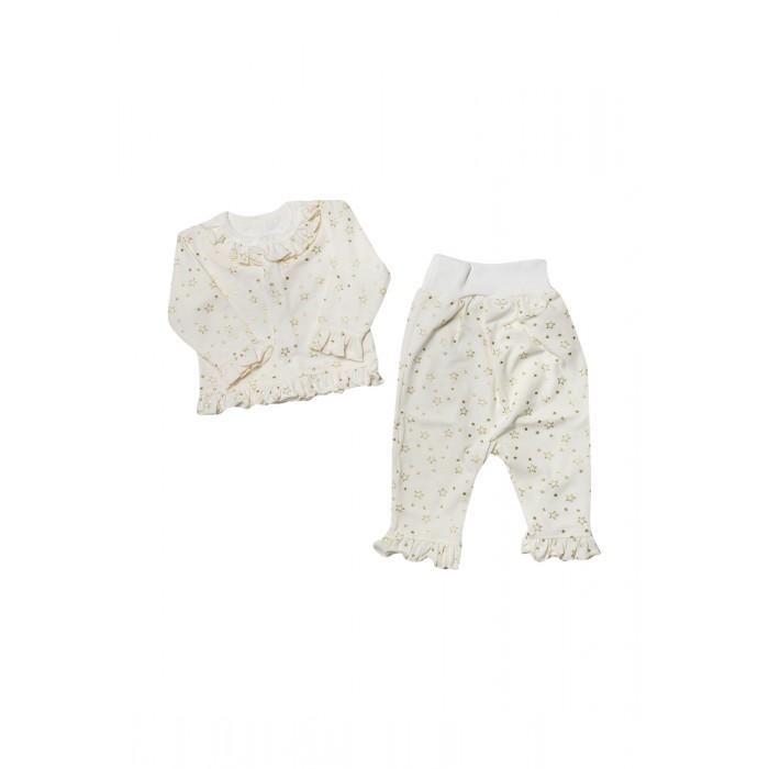 Комплекты детской одежды Клякса Комплект для девочки (кофточка, штанишки) Звездочка