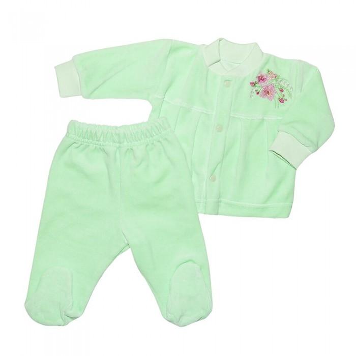 Комплекты детской одежды Клякса Костюм для девочки (кофточка и ползунки) комплекты детской одежды клякса комплект для девочки из кофточки и ползунков