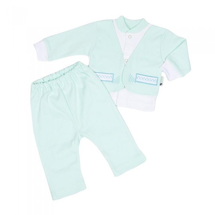 Комплекты детской одежды Клякса Костюм для мальчика (кофточка и ползунки) комплекты детской одежды клякса комплект 5 предметов 53 5228