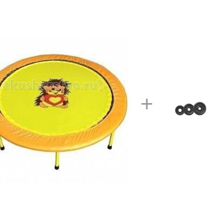 Детские батуты КМС Складной мини-батут диаметр 138 см и Диск литой Kettler 0.5 кг 7371-810