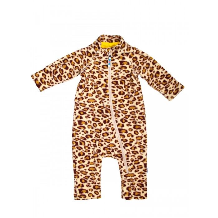 Картинка для Боди, песочники, комбинезоны Knopa Комбинезон флисовый Леопард