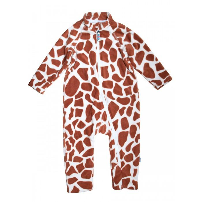 Картинка для Боди, песочники, комбинезоны Knopa Комбинезон флисовый Жираф