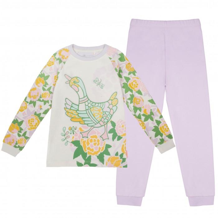 Пижамы и ночные сорочки Kogankids Пижама для девочки 171-245-14 пижамы и ночные сорочки lp collection пижама для девочки 26 1782