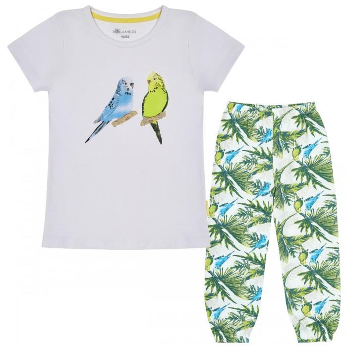 Kogankids Пижама для девочки Попугаи