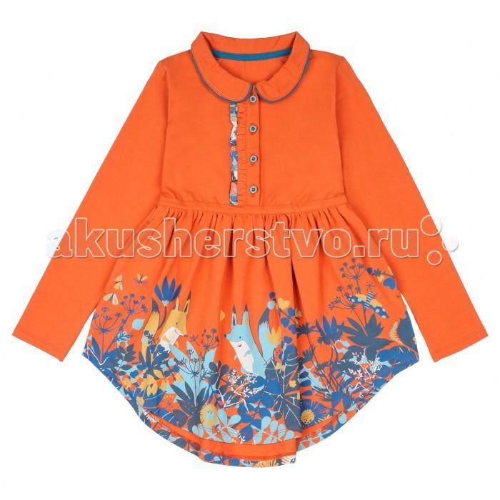 Детская одежда , Детские платья и сарафаны Kogankids Платье Лесные друзья 151-329-51 арт: 372938 -  Детские платья и сарафаны
