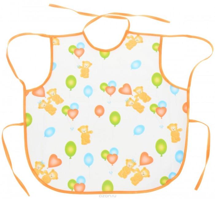 Детские фартуки Колорит Фартук из клеенки подкладной с ПВХ покрытием Мишки 36х36 см