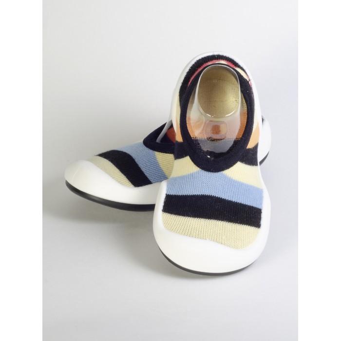 Пинетки Komuello Ботиночки-носочки Flat Kiddy stripe