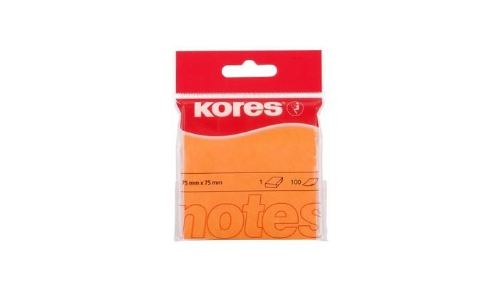 Канцелярия Kores Блок-кубик для заметок 75х75 неон 100 листов