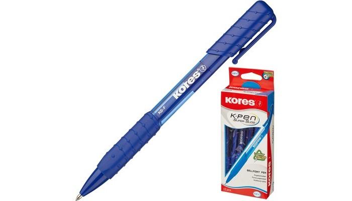 Канцелярия Kores Ручка шариковая К6 автомат треугольный корпус 0.5 мм