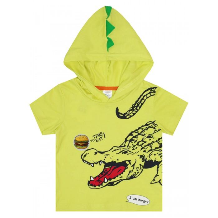 КотМарКот Футболка с капюшоном для мальчика Крок