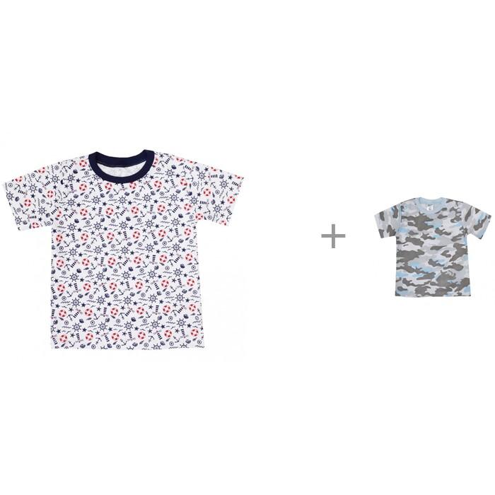 футболки и топы Футболки и топы КотМарКот Футболки для мальчика Лето Море и Камуфляж