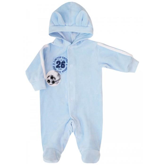 Комбинезоны и полукомбинезоны КотМарКот Комбинезон с капюшоном для мальчика Baby Care комбинезоны и полукомбинезоны котмаркот комбинезон с капюшоном зверята велюр
