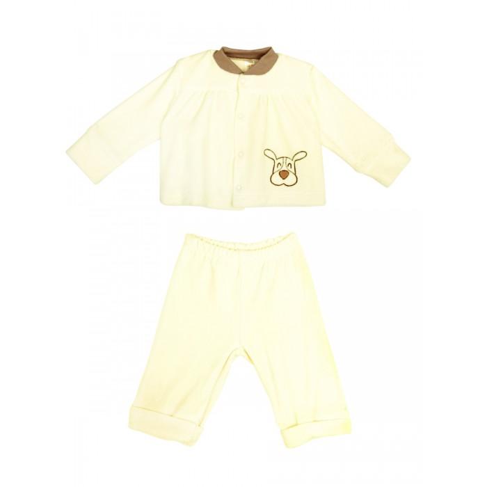 Комплекты детской одежды КотМарКот Комплект: кофточка и штанишки Зверята велюр брюки котмаркот штанишки сердечко