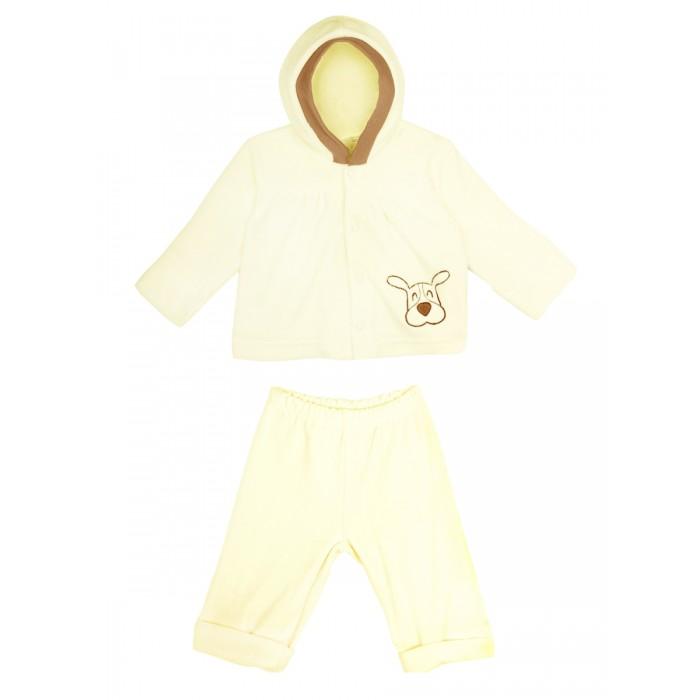 Комплекты детской одежды КотМарКот Комплект: толстовка и штанишки Зверята велюр брюки котмаркот штанишки мишка