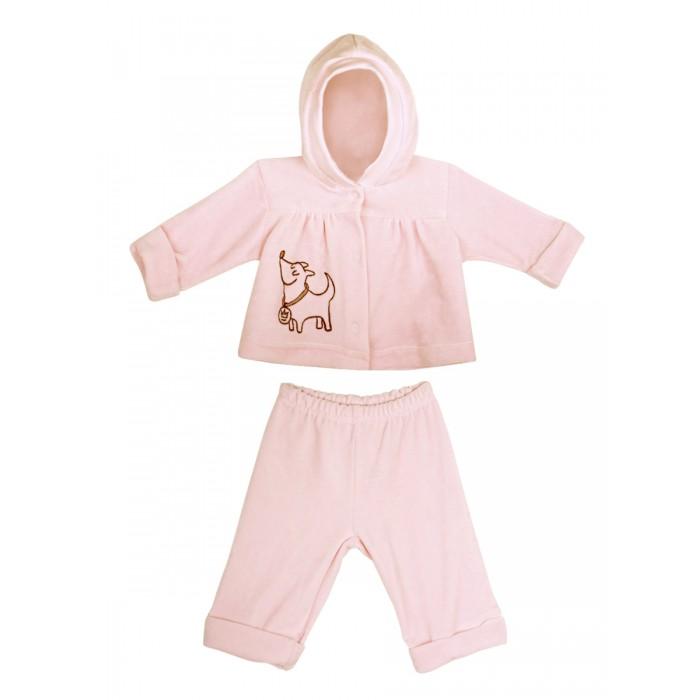 Комплекты детской одежды КотМарКот Комплект: толстовка и штанишки Зверята велюр брюки котмаркот штанишки сердечко