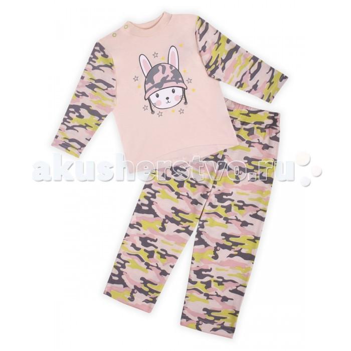 Пижамы и ночные сорочки КотМарКот Пижама для девочки Army Baby брюки котмаркот штанишки сердечко
