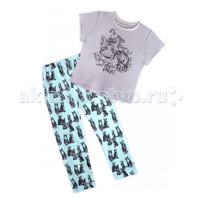 Пижамы и ночные сорочки КотМарКот Пижама для девочки Кошки 16424 пижамы и ночные сорочки nannette пижама для девочки 26 1781