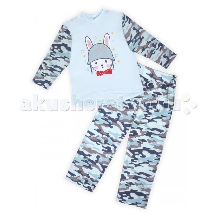 Пижамы и ночные сорочки КотМарКот Пижама для мальчика Army Baby брюки джинсы и штанишки котмаркот штанишки для мальчика army baby
