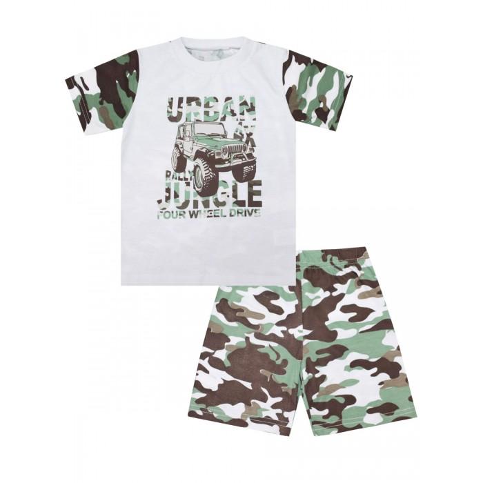 Купить Домашняя одежда, КотМарКот Пижама для мальчика Зеленые джунгли 30102