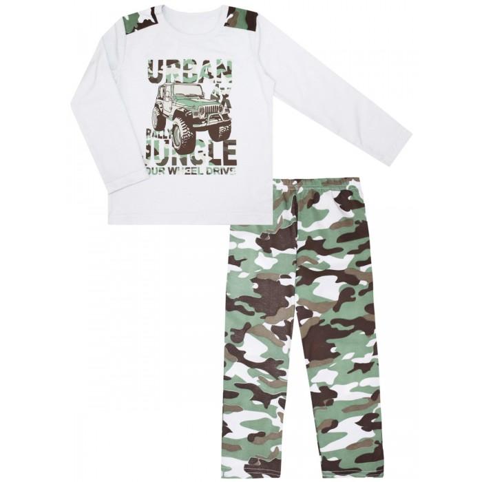 Купить Домашняя одежда, КотМарКот Пижама для мальчика Зеленые джунгли 30104