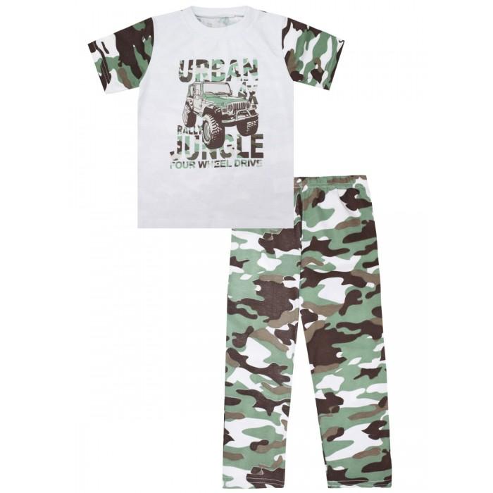 Домашняя одежда, КотМарКот Пижама для мальчика Зеленые джунгли 30105  - купить со скидкой