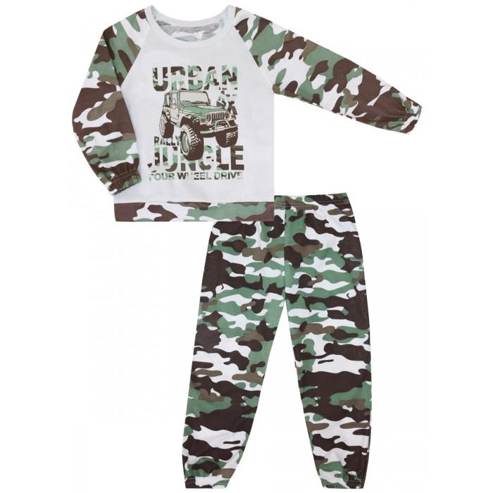 Купить Домашняя одежда, КотМарКот Пижама для мальчика Зеленые джунгли 30106