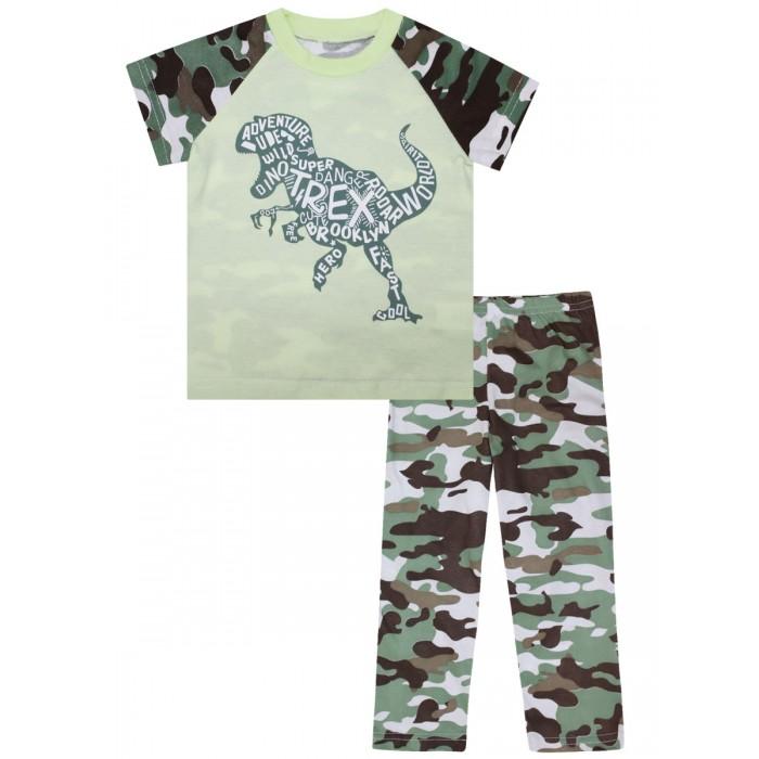 Купить Домашняя одежда, КотМарКот Пижама для мальчика Зеленый динозавр 30100