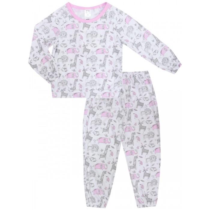КотМарКот Пижама (джемпер, брюки) для девочек Sleepy Child