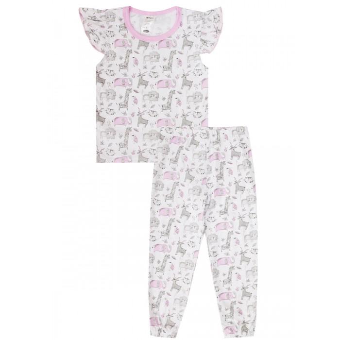 Домашняя одежда КотМарКот Пижама (футболка, брюки) для девочек Sleepy Child
