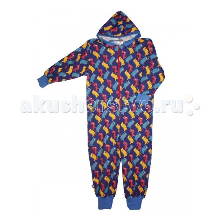 Детская одежда , Комбинезоны и полукомбинезоны КотМарКот Слиппер Динозаврик арт: 371468 -  Комбинезоны и полукомбинезоны